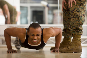 Armed Forces Boot Camp at Community College