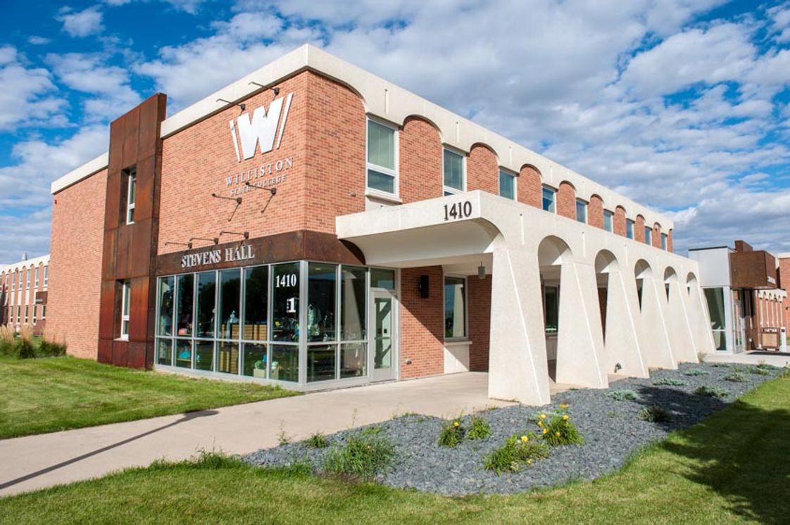 Williston State College Photo - Stevens Hall is the main building on campus and was completely renovated in 2015 with new classrooms, bookstore and cafeteria. Stevens is also home to most administration and the learning commons.