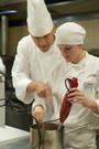 New England Culinary Institute Photo - Chef John Barton with a NECI student.