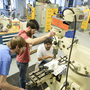 Students get hands-on experience in the manufacturing lab.