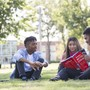 Tidewater Community College Photo - Students study on the Quad at the TCC Portsmouth Campus